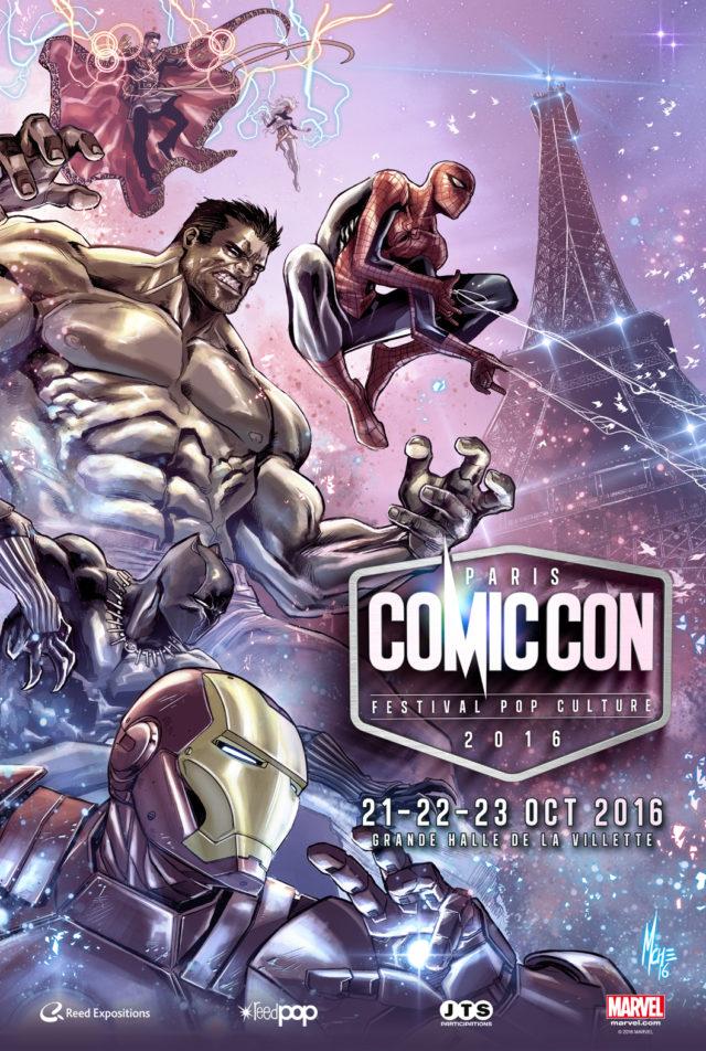 L'affiche officielle de l'édition 2016 du Paris Comic Con / Via CP