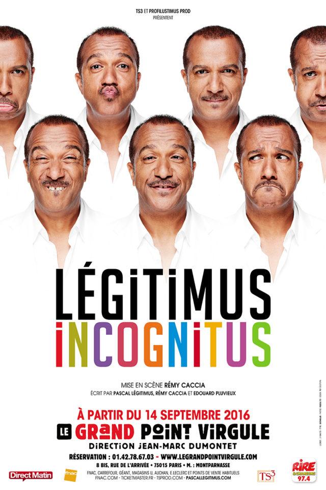 L'affiche du nouveau spectacle de Pascal Légitimus / Photo via CP Riseup