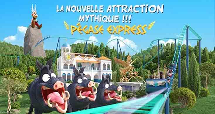 Zoom sur «Pégase Express» la nouvelle attraction familiale du Parc Astérix qui ouvrira en juin !