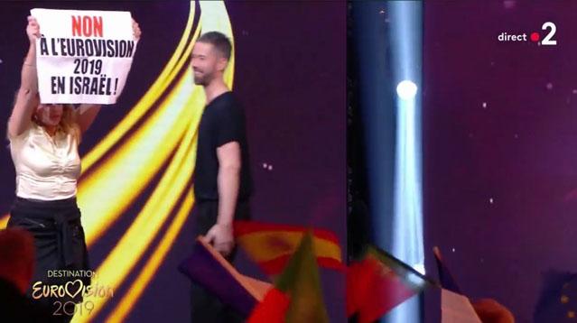 Destination Eurovision: des antijuifs pro-BDS perturbent France 2