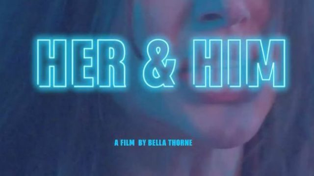 affiche her&him film érotique bella thorne
