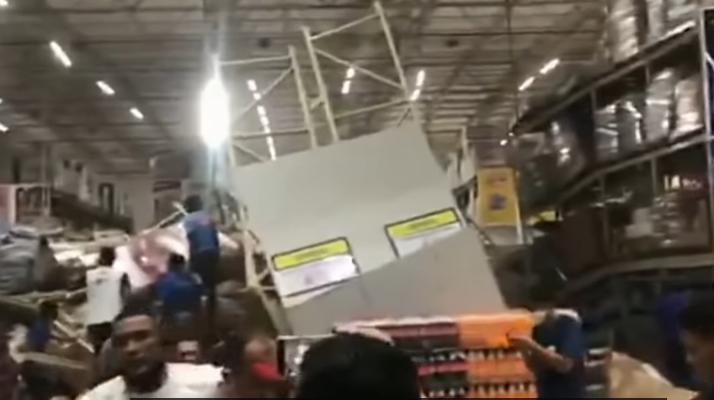 Brésil : Un mort et huit blessés après l'effondrement de plusieurs étagères d'un supermarché