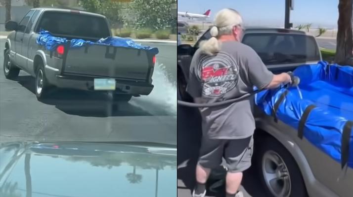 Aux États-Unis, cet homme est filmé en train de remplir le coffre de son véhicule… d'essence !