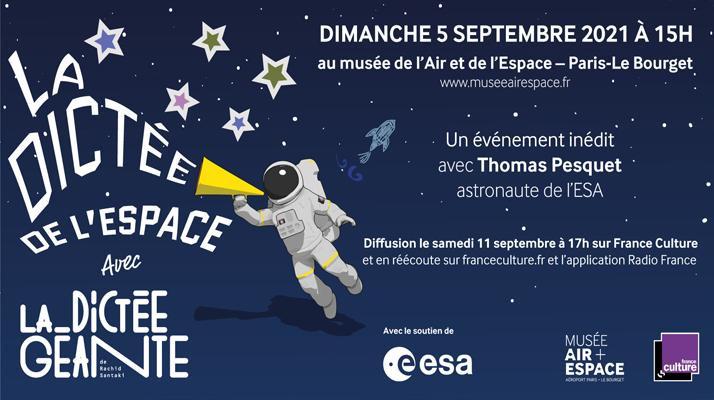 Depuis l'ISS, Thomas Pesquet sera aux commandes de « La dictée de l'espace » ce dimanche