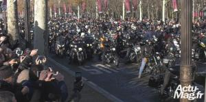 hommage populaire johnny bikers photo JR Actu-Mag.fr
