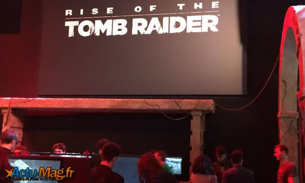 "Stand ""Rise of the Tomb Raider"" PGW2015/  Photos J.R / Actu-Mag.fr"