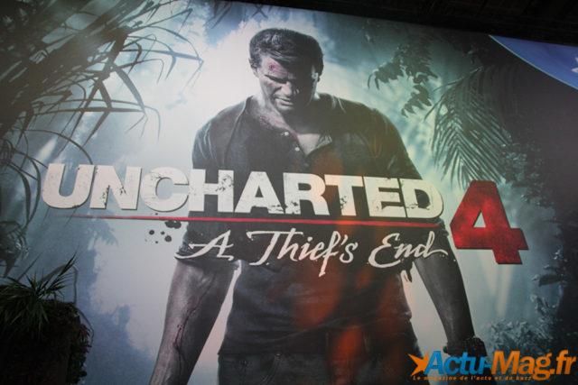 Affiche Uncharted  4 au PGW2015 / Photos J.R pour Actu-Mag.fr