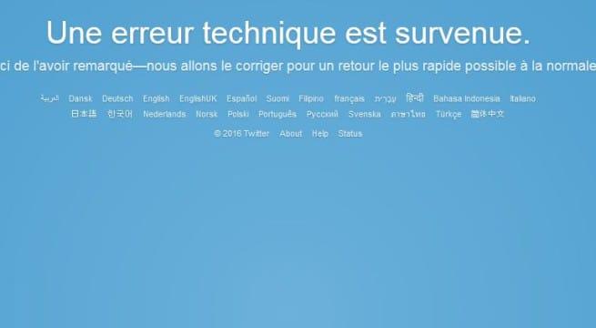 Capture site Twitter en erreur