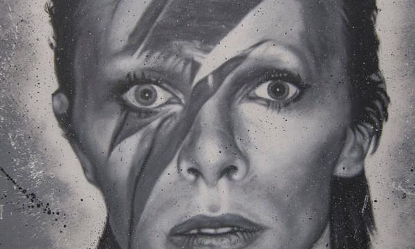 Portrait de David Bowie / Flickr thierry ehrmann
