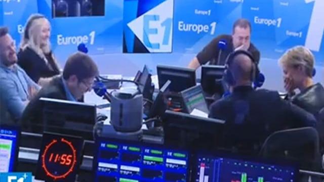Un fou rire éclate dans les studios d'Europe 1 / Capture Europe 1