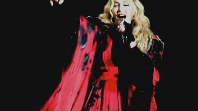 Madonna lors de son concert Rebel Heart Tour / Capture Youtube
