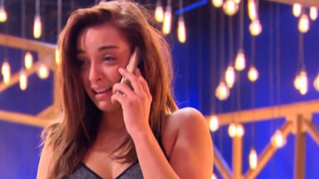 Priscilla Betti en larmes sur TF1 / Capture