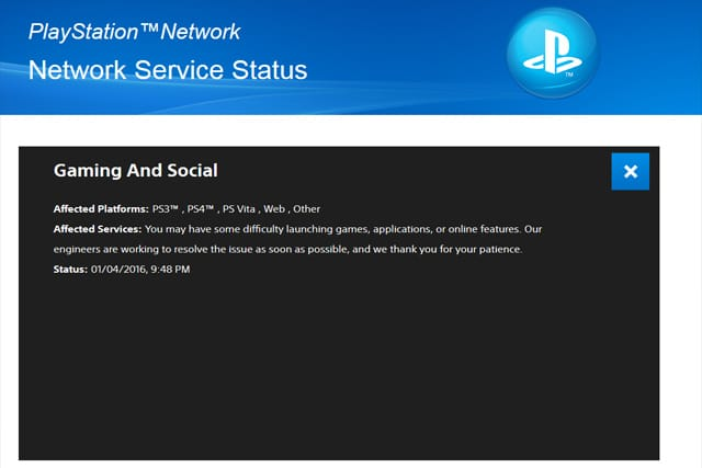 Images of Sony Playstation Network Status - #rock-cafe