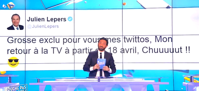 Cyril Hanouna / Capture D8 Touche Pas à Mon poste