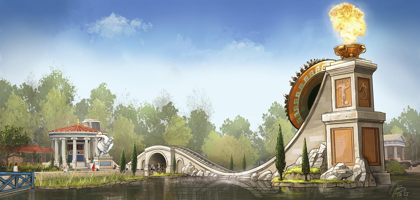 Discob lix la nouvelle attraction au parc ast rix for Parc attraction yvelines