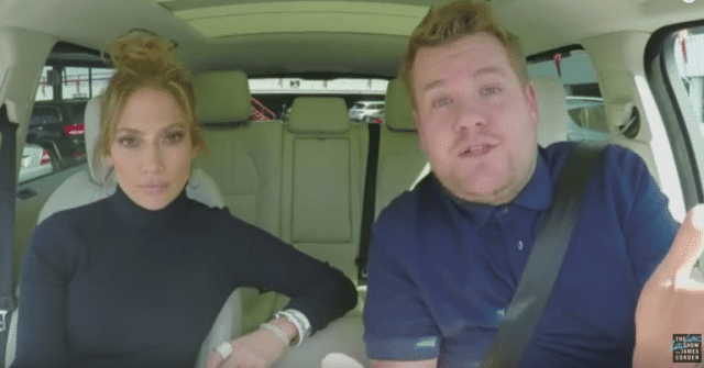 Jennifer Lopez et James Corden / Capture YouTube