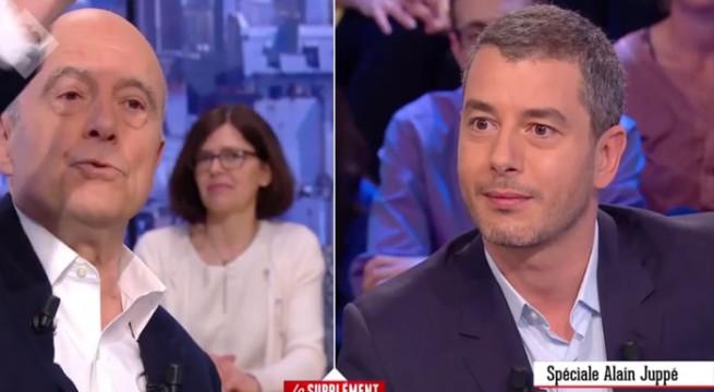 Alain Juppé en colère contre le Petit Journal / Capture Canal +