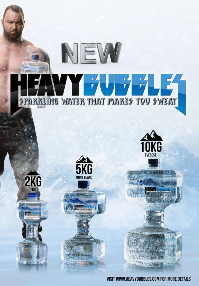 La Montagne (GOT) Présente sa bouteille Haltère HeavyBubbles