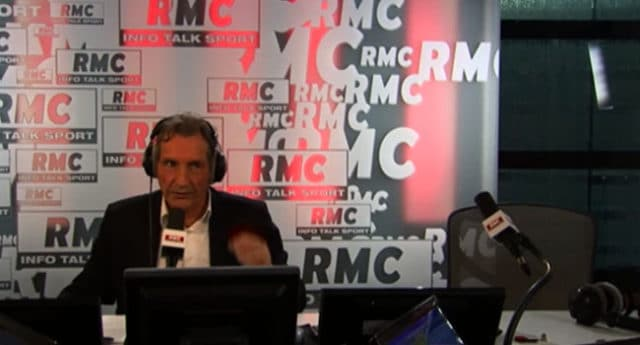 Le journaliste Jean-Jacques Bourdin au micro de RMC / Capture RMC