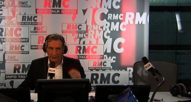 Le journaliste Jean-Jacques Bourdin au micro de RMC / Capture RMC