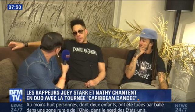 JoeyStarr quitte une interview de BFMTV en mettant un gros vent à la journaliste / Capture BFMTV