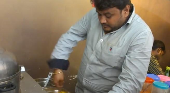 Un restaurateur fait des percussions en Inde / Capture Youtube