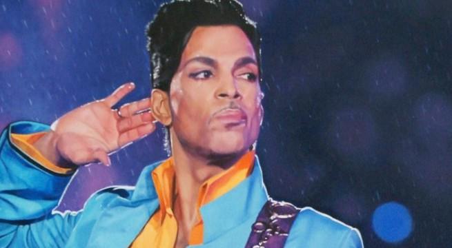 Le chanteur Prince en concert / Capture