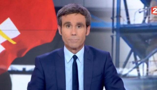 Le journaliste David Pujadas / Capture France 2