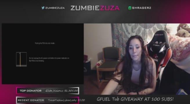 Une joueuse en train de vomir en direct sur la plateforme de streaming live Twitch / Capture Youtube