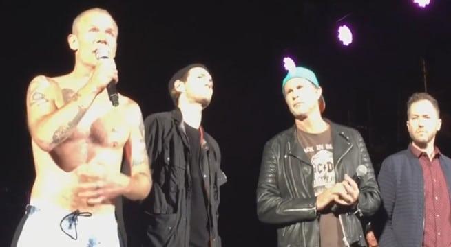 Les Red Hot Chili Peppers annule un concert en Californie / Capture Youtube
