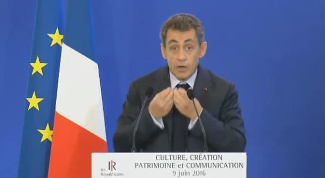 Nicolas Sarkozy ce jeudi / Capture Youtube