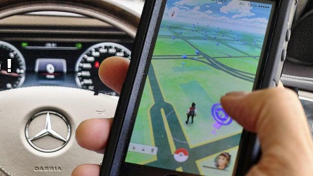 Il chasse un Pokémon en voiture et termine dans le mur / Illustration Actu-Mag.fr