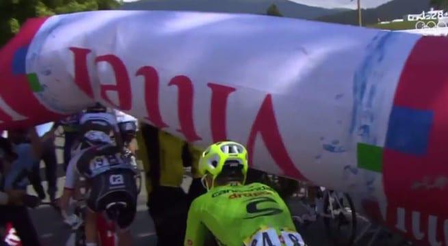 Tour de France 2016 victime d'un incident de parcourt / Capture Youtube