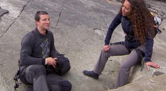 Mel B aux côtés de Bear Grylls / Capture Youtube NBC