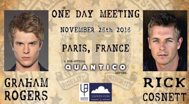 Affiche de la convention autour de la série Quantico / Image Cloudscon.net