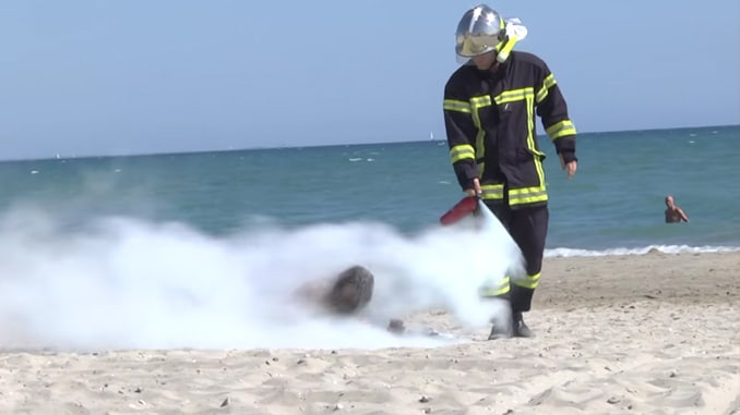 Rémi Gaillard joue les pompiers / Capture Youtube