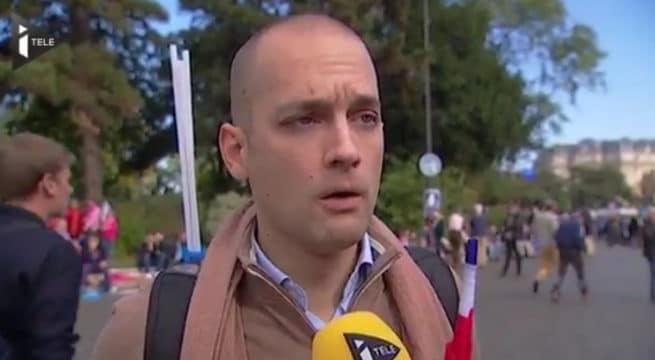 Un manifestant à la Manif pour Tous / Capture I-Tele