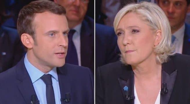 bébé réaction Marine Le Pen et Emmanuel Macron