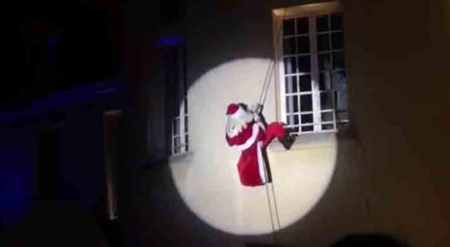 Quand le Père Noël joue au cascadeur, ça se termine mal — Vidéo