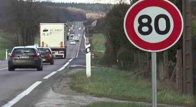routes limitées a 80